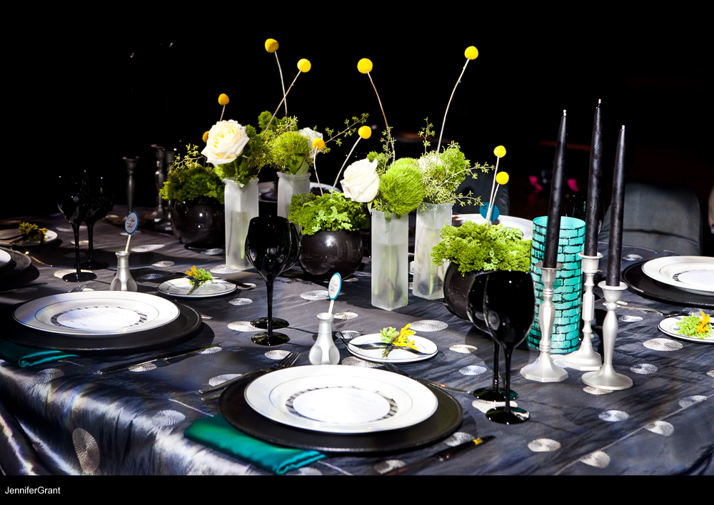 modern-gray-black-teal-wedding-reception-decor