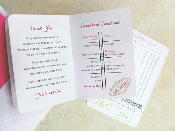 Canadian Wedding Invitations: Canada Passport Invitation For Las Vegas Wedding