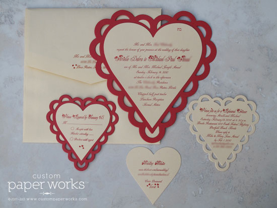 valentines day wedding invitations