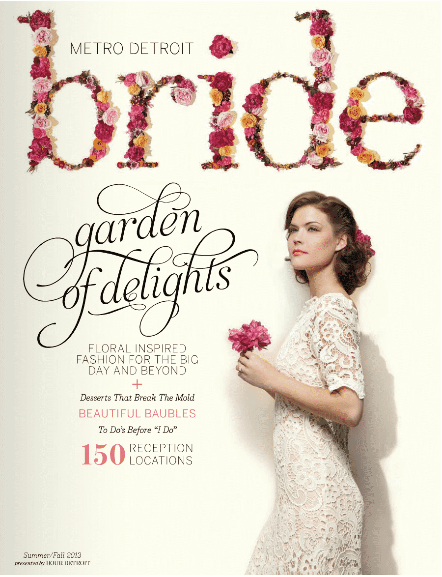 Cover of Metro Detroit Bride Magazine Summer/Fall 2013