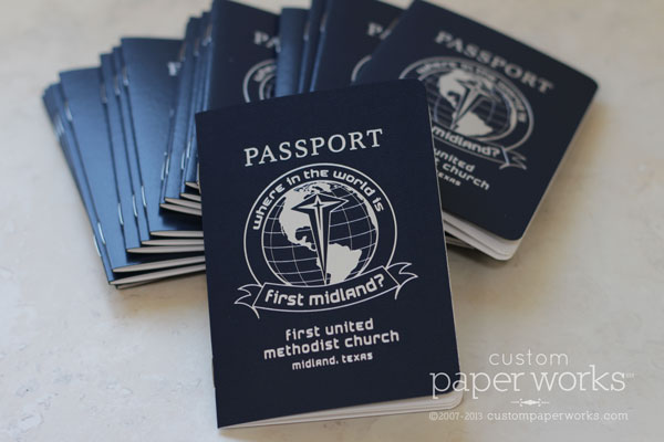 Passport booklet for church summer series event