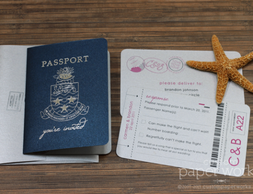 A Modern + Whimsical Passport Invitation