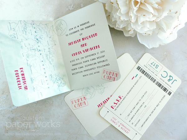 Punta Cana Wedding Passport Invitations