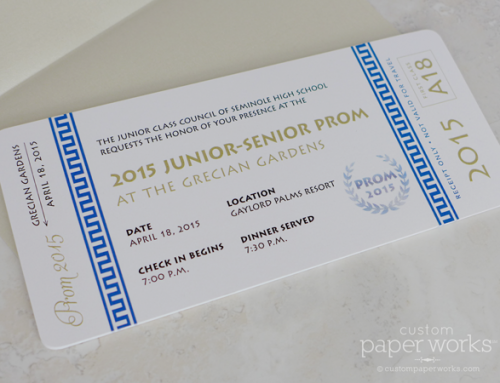 Boarding Pass Prom Tickets