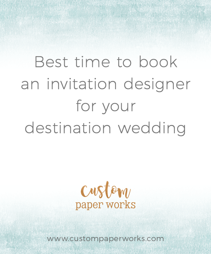 Best time to book an invitation designer for your wedding