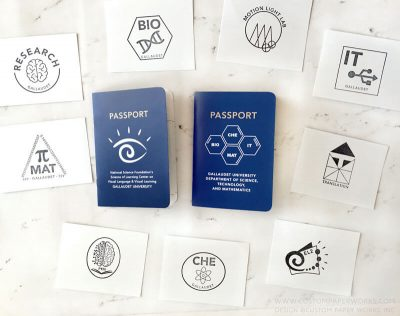 College department open house passport book for attendees by Custom Paper Works