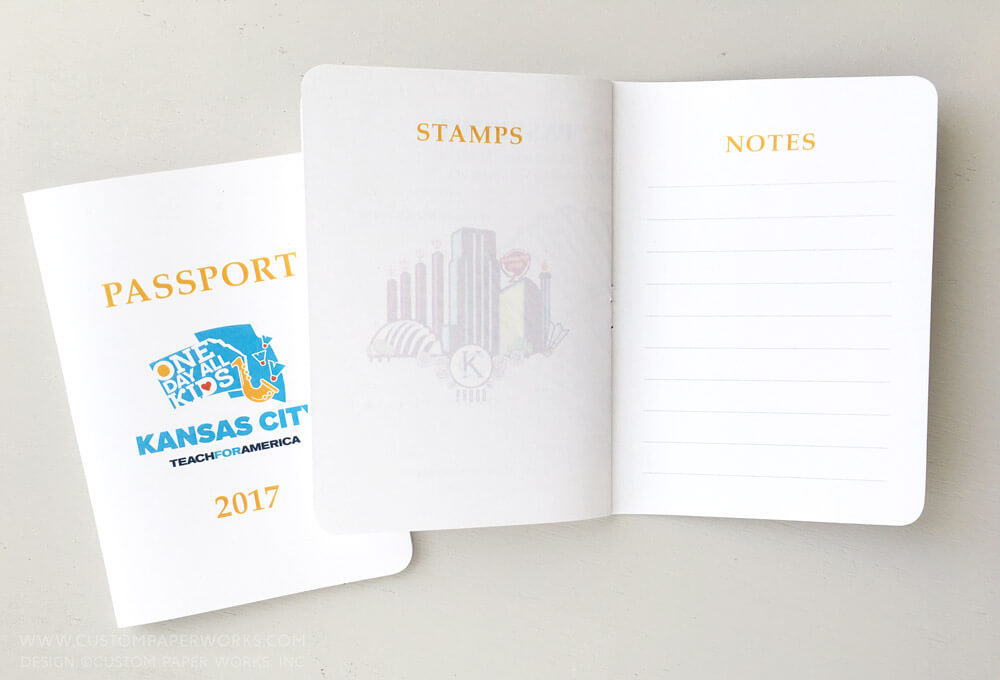 Tradeshow conference passport book for notes