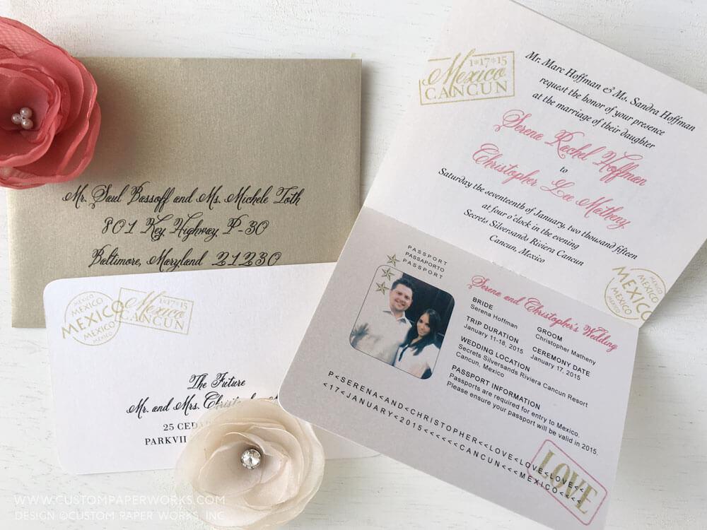 Inside of invitation