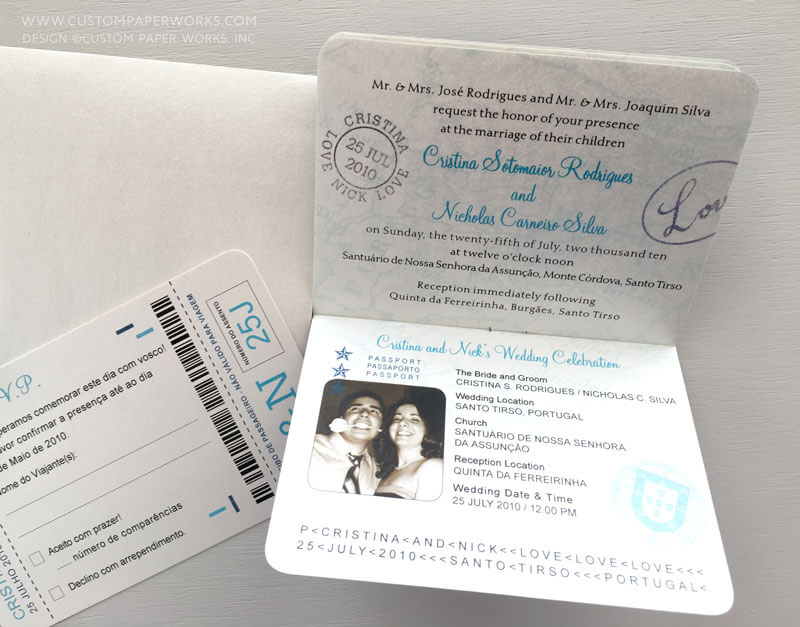 Inside 3 of dual language invitation