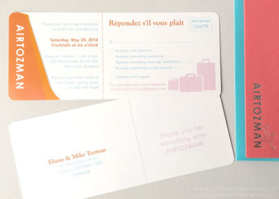 Bat mitzvah ticket rsvp card