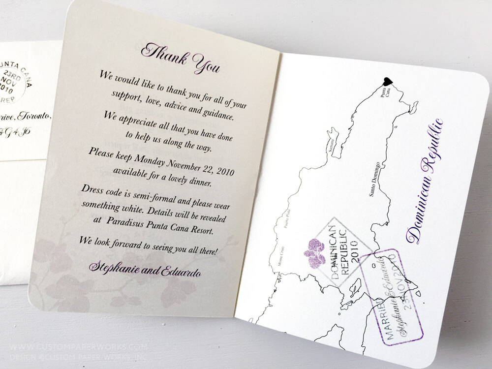 Last page of wedding passport