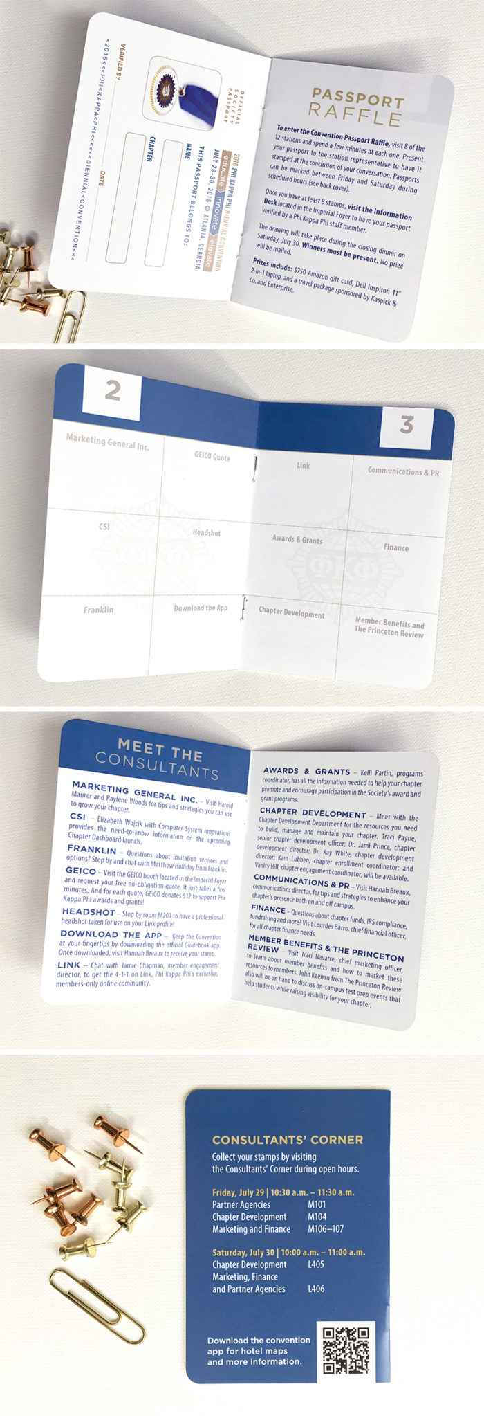 passport program book for honor s society event custom paper works