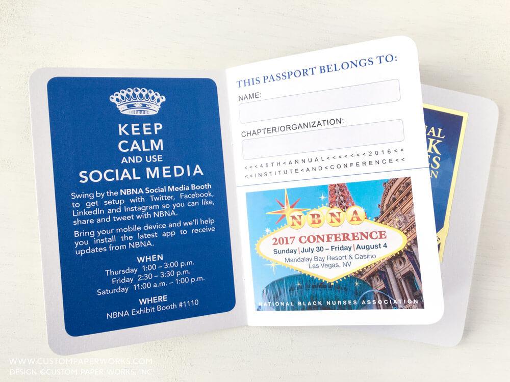 Tradeshow passport raffle booklet by Custom Paper Works
