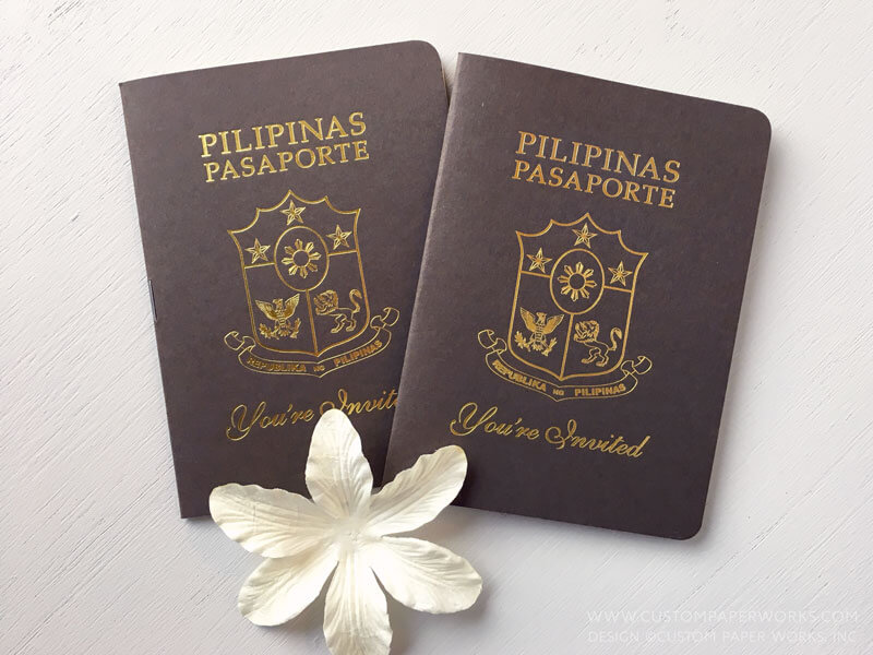 Philippines wedding passport invitation by Custom Paper Works