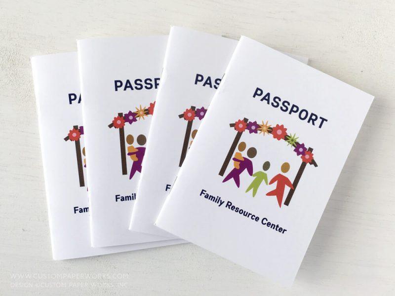 Passport booklet for community education program.