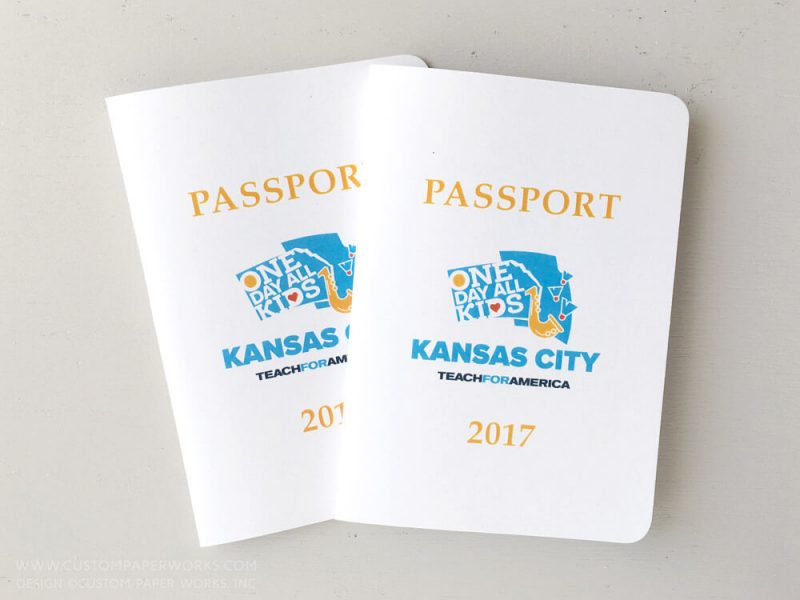 Nonprofit event attendee passport book by Custom Paper Works