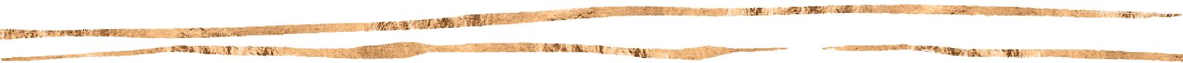 Two decorative copper stripes