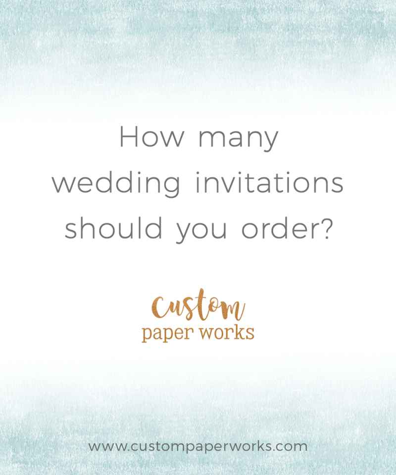 How many wedding invitations should you order?