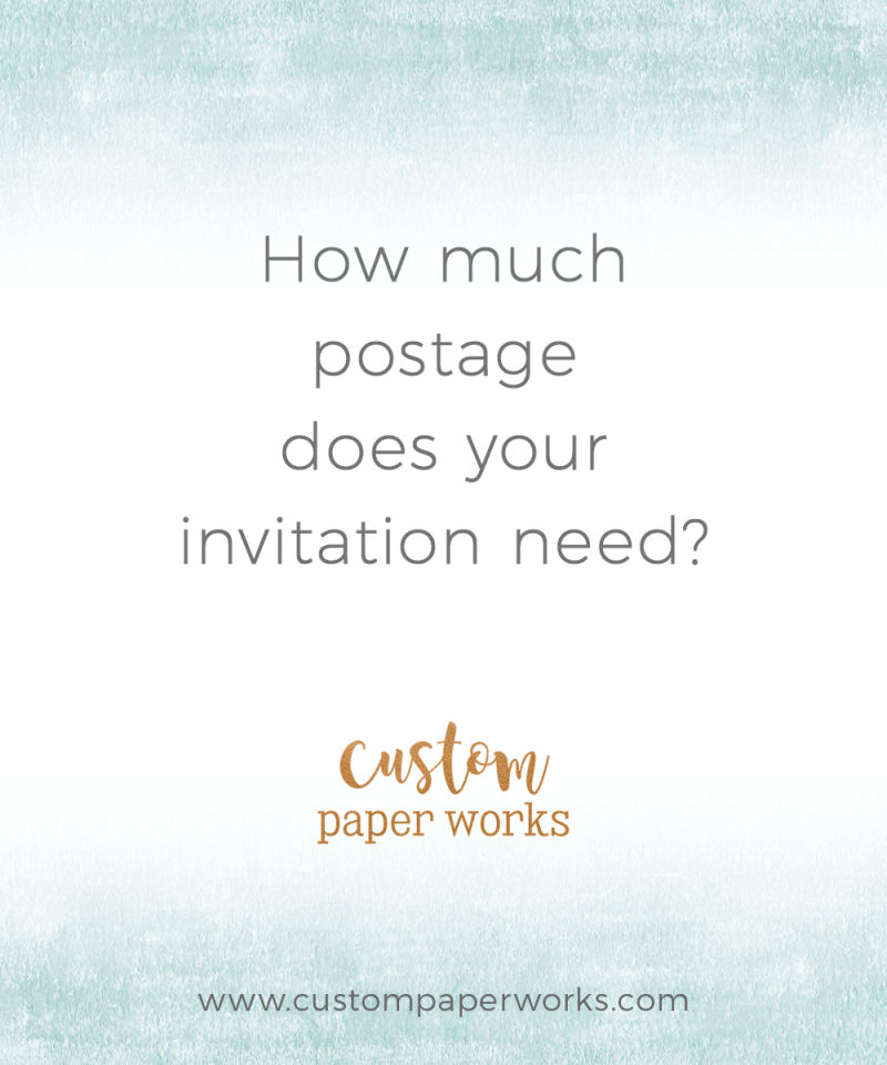How much postage does your invitation need?