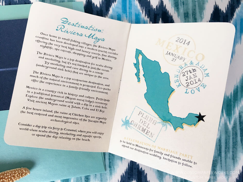 Passport wedding pages by CustomPaperWorks